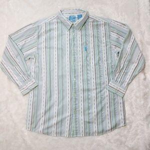Mecca Striped Button Up Shirt